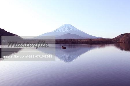 Mount Fuji reflected on water, Yamanashi Prefecture