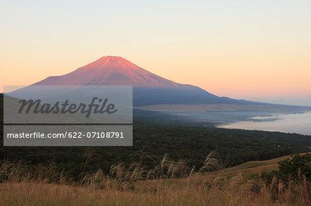 Mount Fuji and Lake Yamanaka, Yamanashi Prefecture