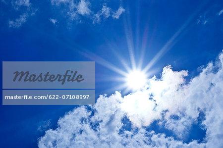 Sun and blue sky