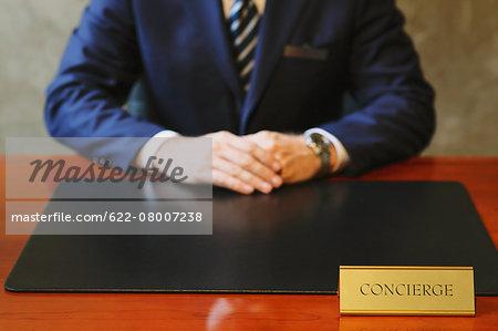 Hotel concierge working