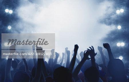 Audience enjoying live concert