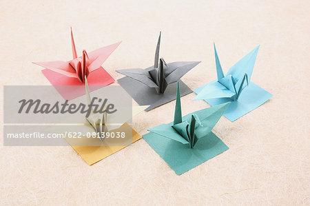 Japanese paper cranes