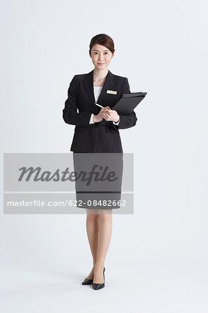 Attractive Japanese concierge