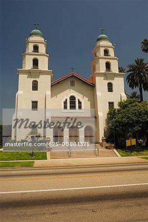Facade of a Spanish style church, Los Angeles, California, USA