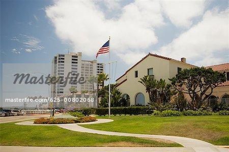 Facade of commercial buildings, La Jolla, San Diego, California, USA