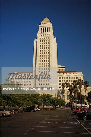 Facade of a building, City Hall, Los Angeles, California, USA