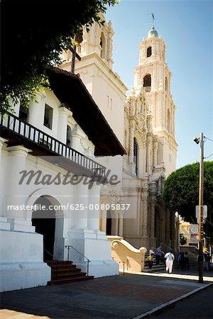 Side profile of a church, Mission Dolores, San Francisco, California, USA