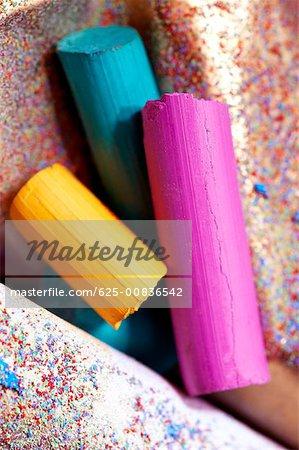 Close-up of crayons