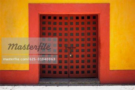 Padlock on a door, Cartagena, Colombia
