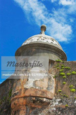 Low angle view of a castle, Morro Castle, Old San Juan, San Juan, Puerto Rico