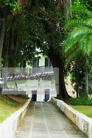 Path leading towards a building, Old San Juan, San Juan, Puerto Rico