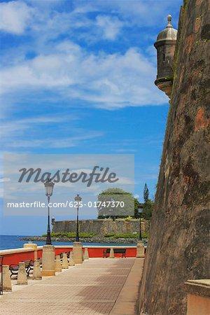 Castle at the seaside, Morro Castle, Old San Juan, San Juan, Puerto Rico