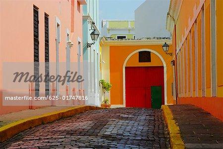 Buildings along a street, Old San Juan, San Juan, Puerto Rico