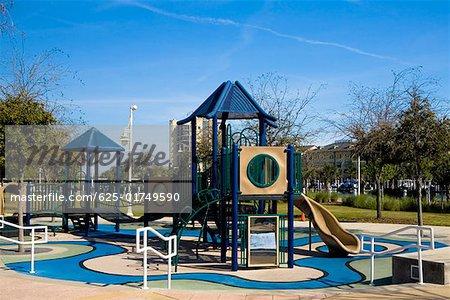 Slides in a park, Cotanchobee Ft. Brooke Park, Tampa, Florida, USA