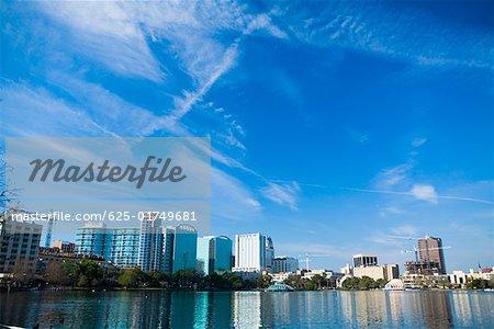 Buildings at the waterfront, Lake Eola, Orlando, Florida, USA
