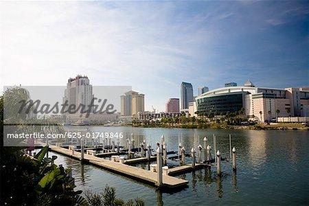 Buildings at the waterfront, Hillsborough River, Tampa, Florida, USA