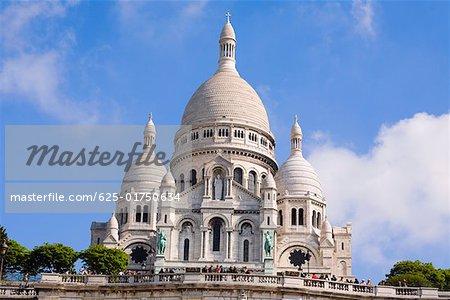 Low angle view of a basilica, Basilique of the Sacre Coeur, Montmartre, Paris, France