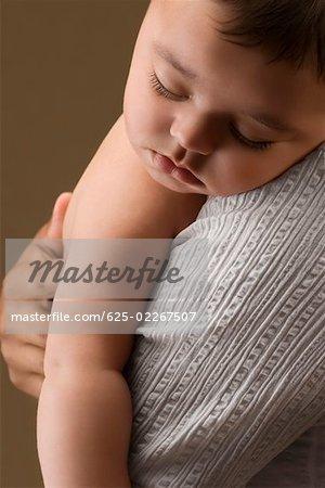 Close-up of a baby boy sleeping
