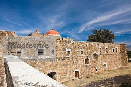 High angle view of a church, Cuilapan Monastery, Oaxaca, Oxaca State, Mexico