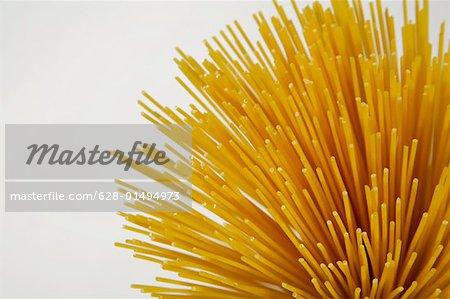 Close-up of raw spaghetti