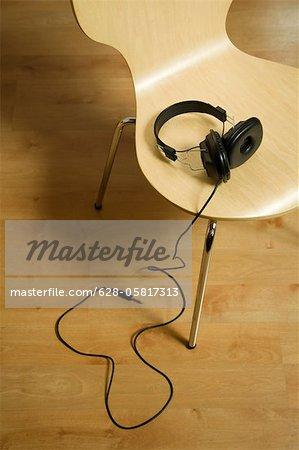 Headphones on chair