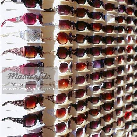 Sunglasses, rack