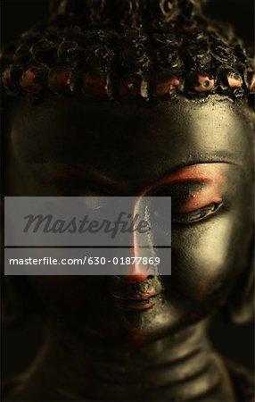 Close-up of a statue of Buddha