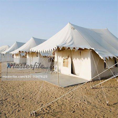 Tents on a landscape Sam Desert Jaisalmer Rajasthan India - Stock Photo & Tents on a landscape Sam Desert Jaisalmer Rajasthan India ...