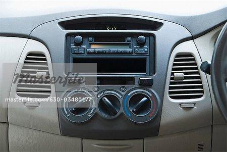 Close-up of the dashboard of a car, Delhi, India
