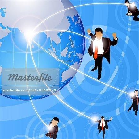 Illustrative representation of global business