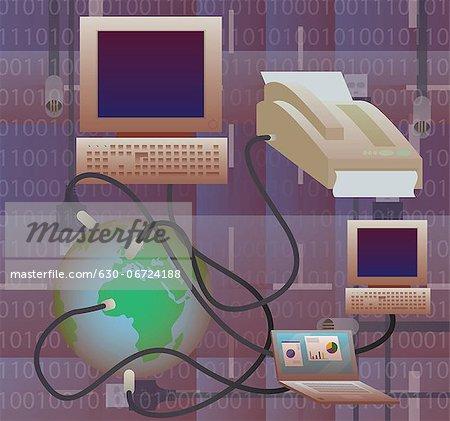Illustrative representation telecom industry