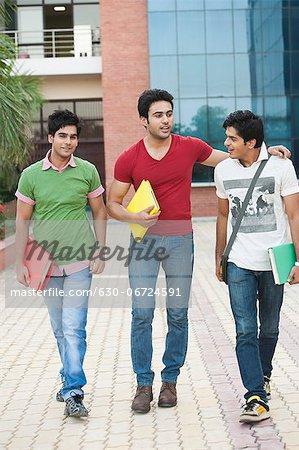 University students walking in university campus