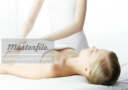 Woman on massage table