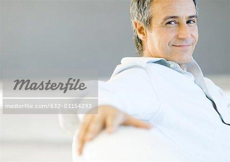 Mature man smiling, portrait