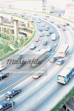China, Shanghai, overpass