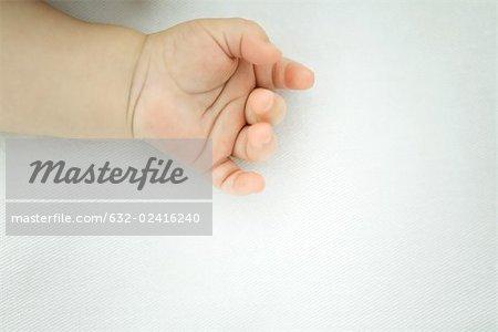 Baby's hand, close-up