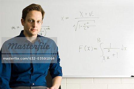 Math teacher, portrait