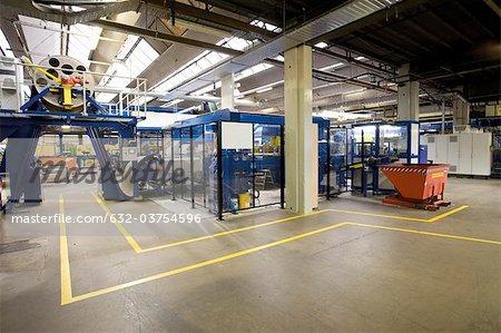 Carpet factory, pedestrian walkway and ultrasonic cutting machine