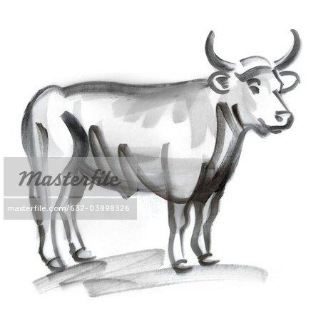Taurus astrological sign, illustration