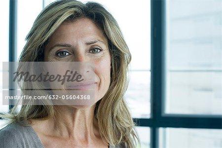 Smiling woman, portrait
