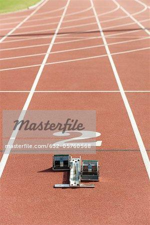 Starting block on running track