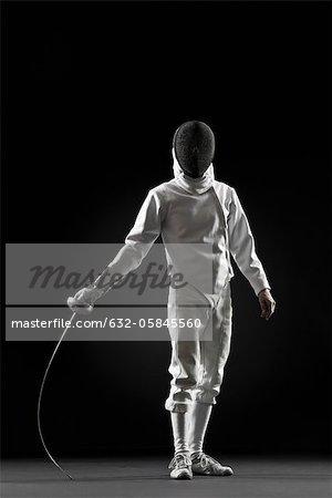 Fencer, portrait