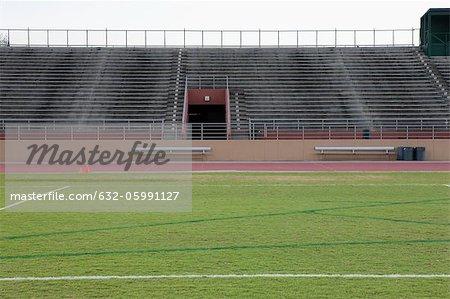 Empty stadium and track