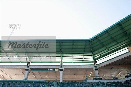 Empty stadium, cropped