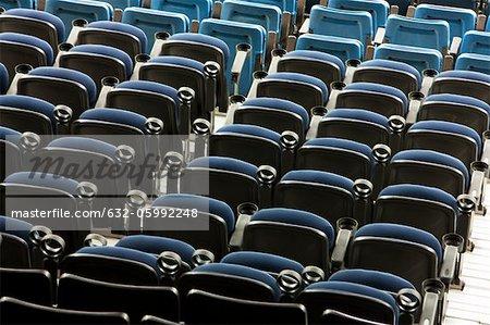 Bleachers in stadium, full frame