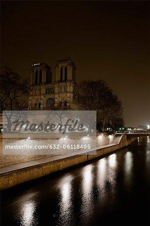 Notre Dame de Paris viewed over Seine river, Paris, France