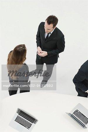 Business associates chatting