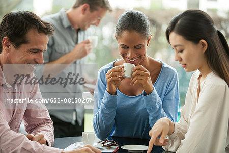 Friends enjoying coffee break