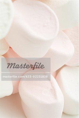 Heap of marshmallows, close-up
