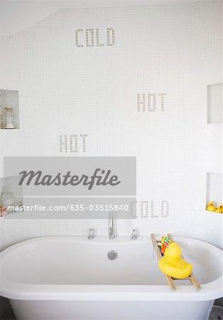 Tranquil, modern bathroom